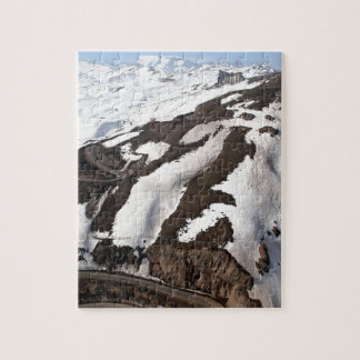 Aerial view of Valle Nevado ski resort Chile Jigsaw Puzzle