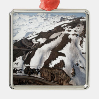 Aerial view of Valle Nevado ski resort Chile Metal Ornament