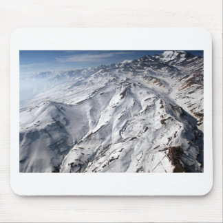 Aerial view of Valle Nevado ski resort Chile Mouse Pad
