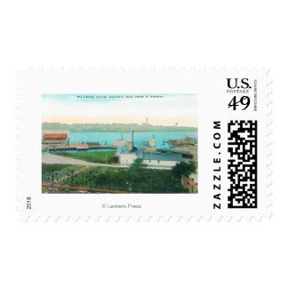 Aerial View of Vallejo Waterfront and Mare Islan Postage