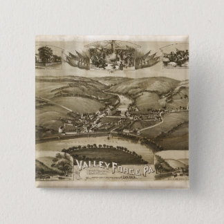 Aerial View of Valley Forge, Pennsylvania (1890) Button