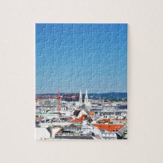 Aerial view of Vienna, Austria Jigsaw Puzzle