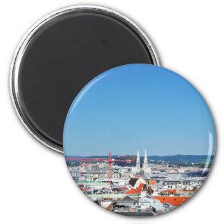 Aerial view of Vienna, Austria Magnet