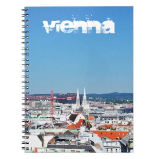 Aerial view of Vienna, Austria Notebook