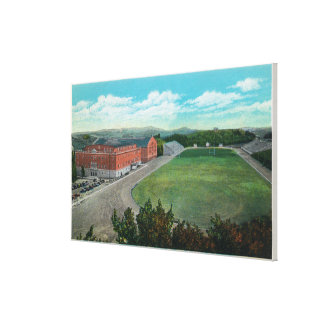 Aerial View of WA State College Gym and Canvas Prints