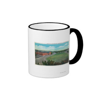 Aerial View of WA State College Gym and Ringer Coffee Mug
