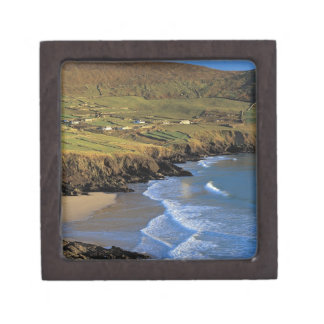 aerial view of waves washing up against a keepsake box