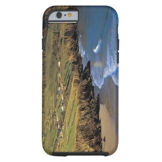 aerial view of waves washing up against a tough iPhone 6 case