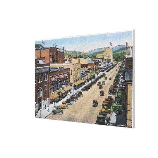 Aerial View of Wenatchee Avenue Canvas Print