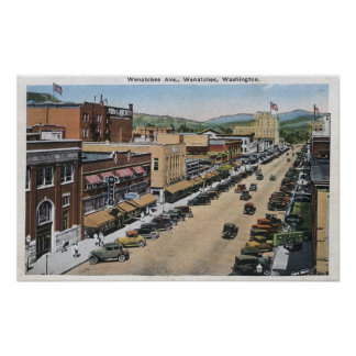 Aerial View of Wenatchee Avenue Poster