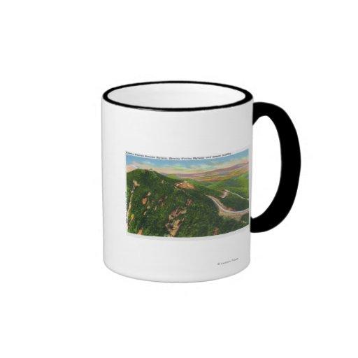 Aerial View of Winding Hwy and Summit Bldg Mug
