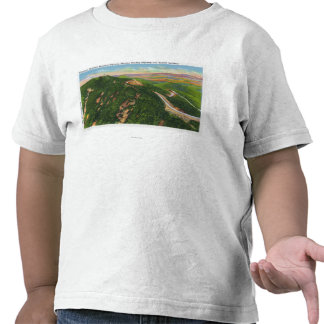 Aerial View of Winding Hwy and Summit Bldg Shirt