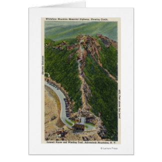Aerial View of Winding Trail, Castle, Summit Card