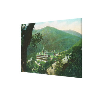 Aerial View of Witter Springs Hotel Exterior Canvas Print