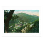 Aerial View of Witter Springs Hotel Exterior Postcard