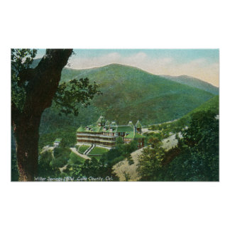Aerial View of Witter Springs Hotel Exterior Poster