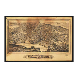 Aerial View of Woburn Massachusetts (1883) Canvas Print
