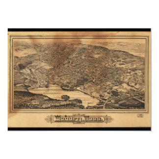 Aerial View of Woburn Massachusetts (1883) Card