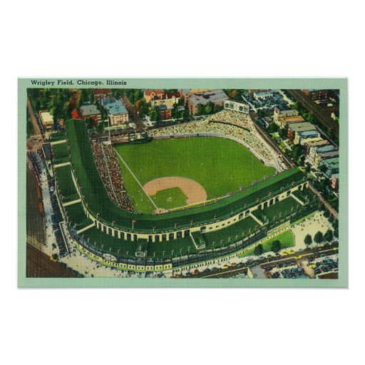 Aerial View of Wrigley Field # 2Chicago, IL Poster