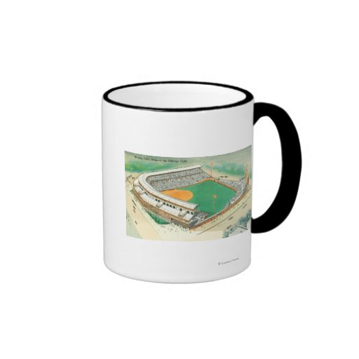 Aerial View of Wrigley Field # 3Chicago, IL Mugs