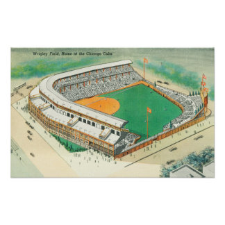 Aerial View of Wrigley Field # 3Chicago, IL Print