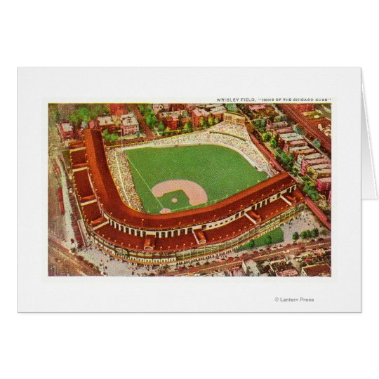 Aerial View of Wrigley FieldChicago, IL Card
