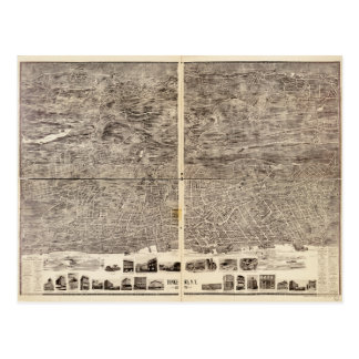 Aerial View of Yonkers, New York (1899) Postcard