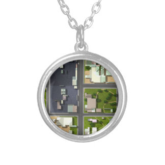 Aerial View - Silver Plated Necklace