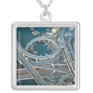 Aerial View Square Pendant Necklace