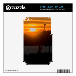 Aerial View Sunset Scene of Montevideo Uruguay Skins For iPod Touch 4G