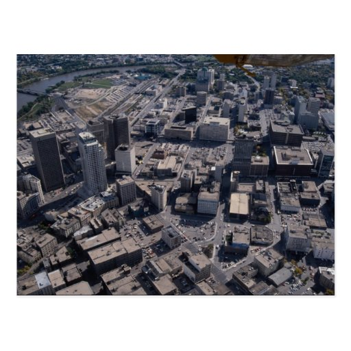 Aerial view, Winnipeg, Manitoba, Canada Postcard