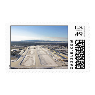 Aerial Winterscape Postage Stamp