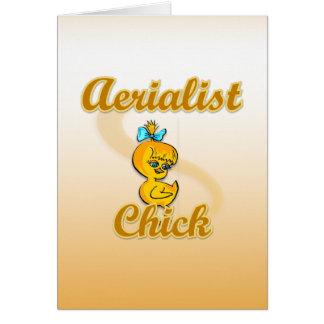 Aerialist Chick Card
