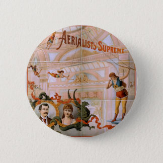 Aerialists Supreme Vintage Theater Button