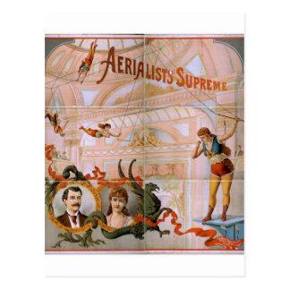 Aerialists Supreme Vintage Theater Postcard
