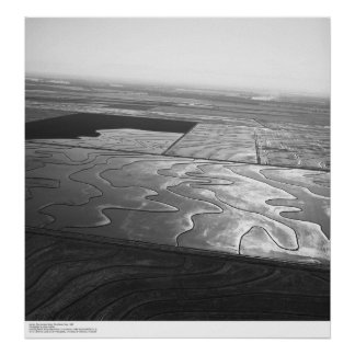 Aerials, Sacramento Valley, Rice fields, May, 1966 Poster