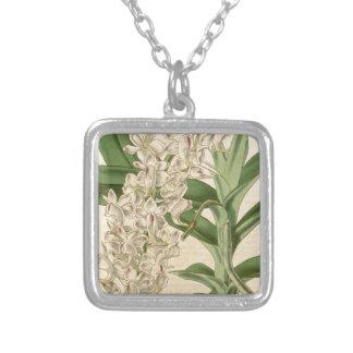 Aerides odorata (or odoratum) square pendant necklace