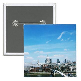 Aeriel View of London Button