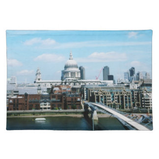 Aeriel View of London Cloth Placemat