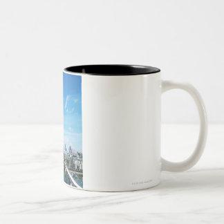 Aeriel View of London Two-Tone Coffee Mug