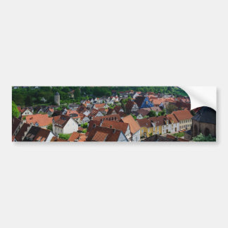 Aeriel View over Old Town in Warburg Germany Bumper Sticker