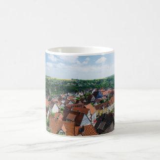 Aeriel View over Old Town in Warburg Germany Coffee Mug