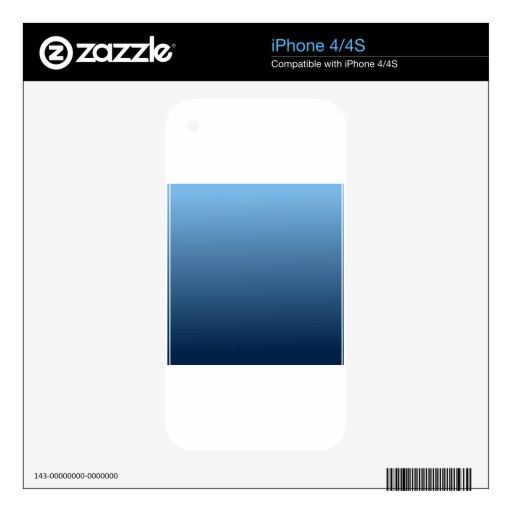 Aero- a la pendiente horizontal del azul de Oxford Skins Para iPhone 4