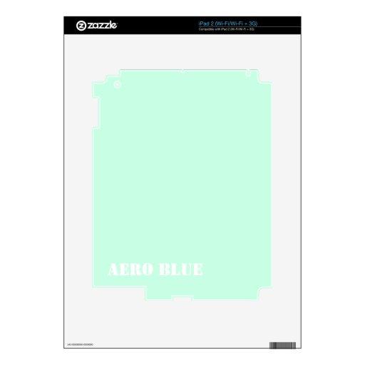 Aero- azul iPad 2 calcomanías