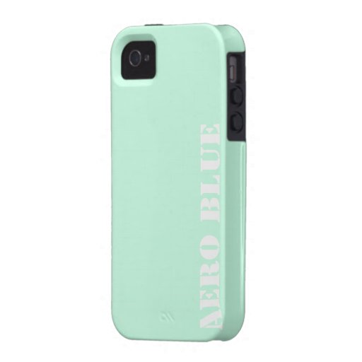 Aero- azul iPhone 4/4S carcasa