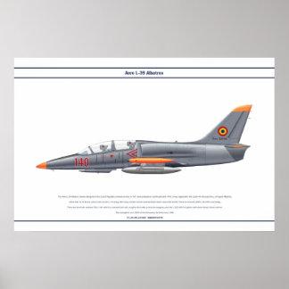 Aero- L-39 Rumania Póster