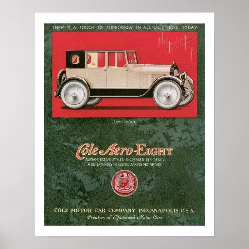 Aero- poster del arte del vintage del anuncio de o