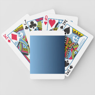 Aero to Oxford Blue Vertical Gradient Deck Of Cards