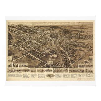 Aero view Map of Goshen New York (1922) Letterhead