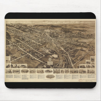 Aero view Map of Goshen New York (1922) Mouse Pad